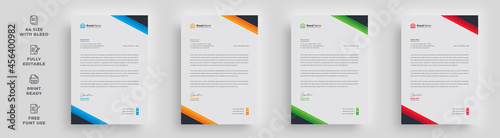 Cuadros en Lienzo letterhead flyer corporate creative minimal official simple abstract modern a4 s