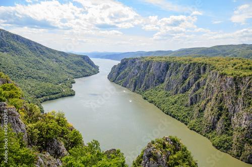 Billede på lærred gorge on the Danube river Beautiful view Nature landscape