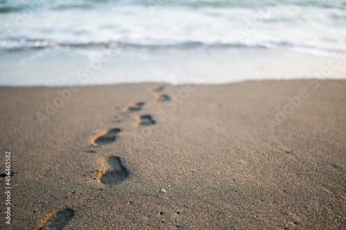 Fotografie, Obraz 砂浜に残る足跡