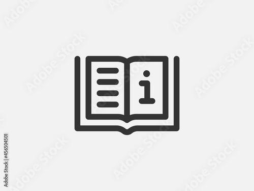 Canvas Guide icon vector, user manual