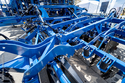 Fotografie, Obraz New modern agricultural machinery and equipment details
