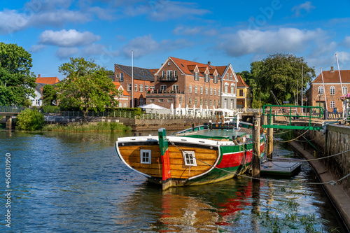 Fotografie, Obraz The charming old town of Ribe, Jutland, the oldest town in Denmark and Scandinavia