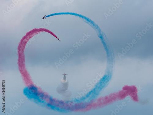 Fotografie, Obraz Red Arrows Royal Air Force Aerobatic Team