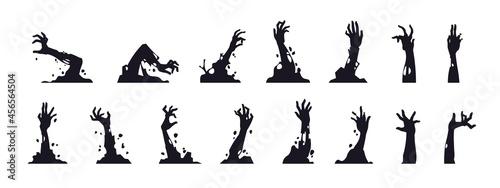 Fotografia Zombie hand silhouettes