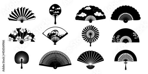 Black paper fan Fototapet