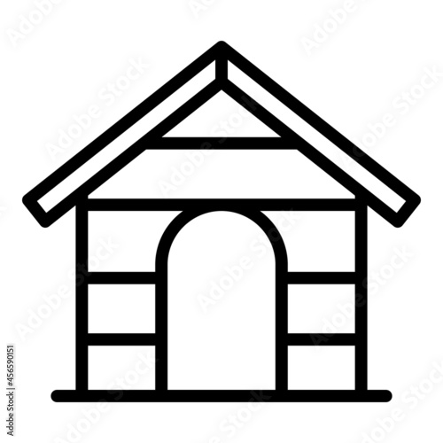 Carta da parati Dog building icon outline vector. Pet house. Pet shelter