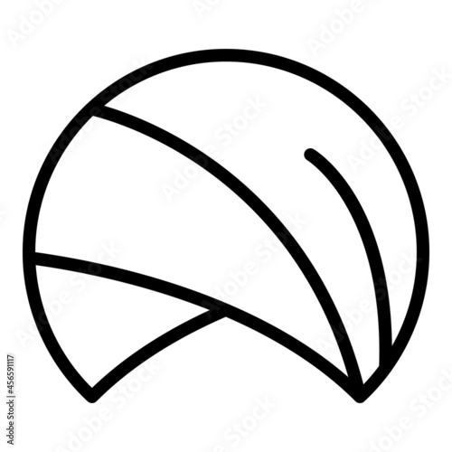 Fotografie, Obraz Sultan hat icon outline vector. Arabic turban. Muslim farmer