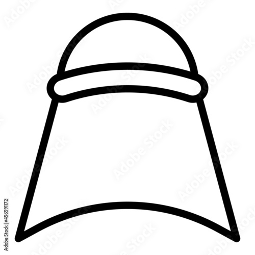 Fototapeta Oriental headgear icon outline vector. Indian hat. King turban