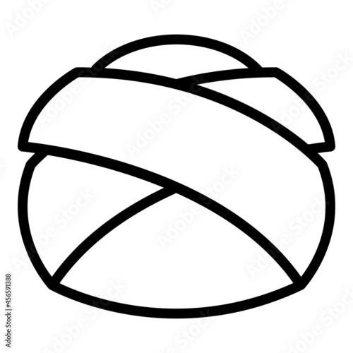 Fototapeta Arab headdress icon outline vector. Turban hat. Sultan hat