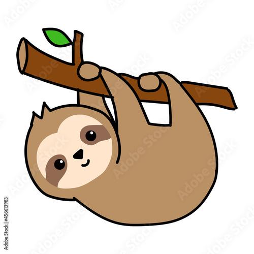 Fototapeta premium hanging sloth illustration
