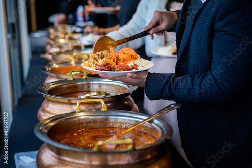 Fotografiet Authentic Indian food close up