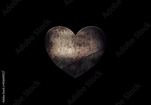 A dark rusty heart Fototapet