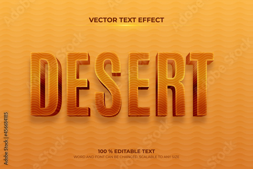 Foto Desert editable 3d text effect with sand backround style