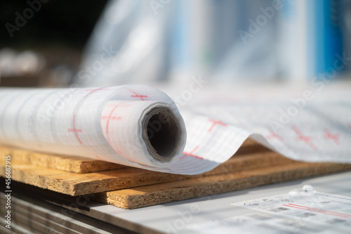 Slika na platnu Vapor barrier film for restricting the passage of wet roof structure