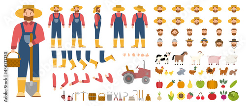 Valokuva Young male farmer constructor set. Person working on a farm.