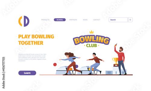 Canvas-taulu Bowling landing