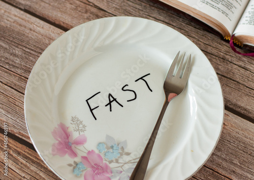 Fotografia Biblical concept fasting, prayer, repentance