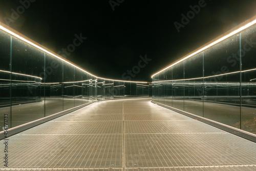 Observation deck illuminated at night Fototapeta