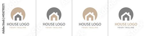 Foto Haus Logos Vektor beige