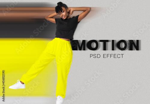 Woman Speed Motion Effect Add-On