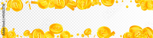 Fotografija Thai baht coins falling
