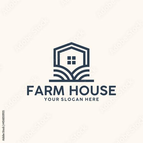 Obraz na plátne modern farmhouse , simple , logo design inspiration