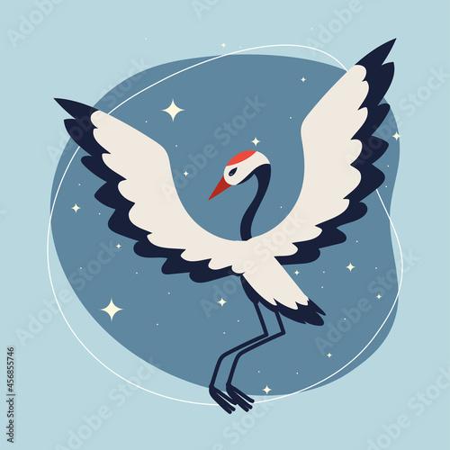 Fototapeta premium crane bird cartoon