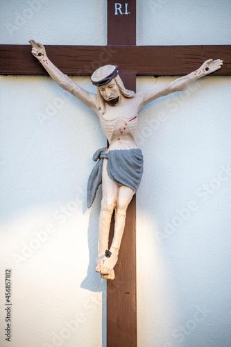Fototapeta Wooden crucifix with Jesus