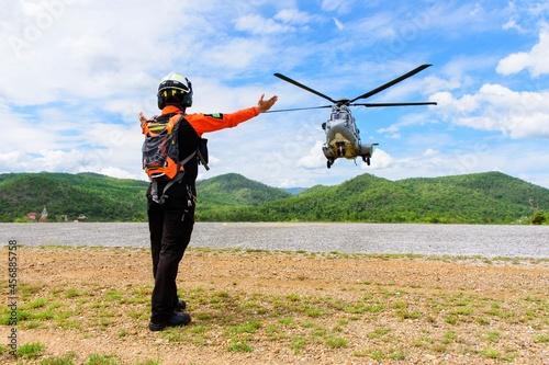 Murais de parede Ec-725 Helicopter Rescue And Tactical Exercise