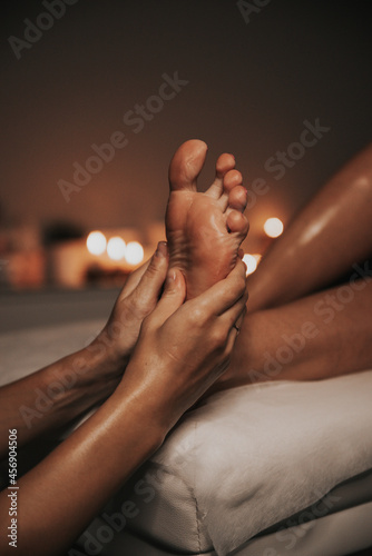 Fototapeta feet of a person