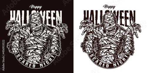 Fotografiet Halloween party vintage label