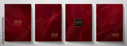 Foto Contemporary technology cover design set
