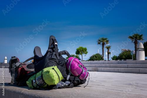 Fotografia, Obraz Sac à dos, sac de voyage