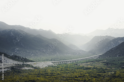 Misty foggy moutains