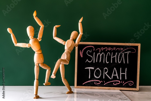The concept of celebrating the Jewish holiday Simchat Torah Fototapet