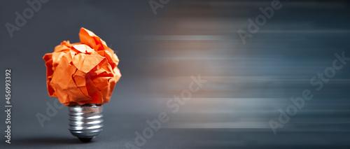crumpled paper bulb