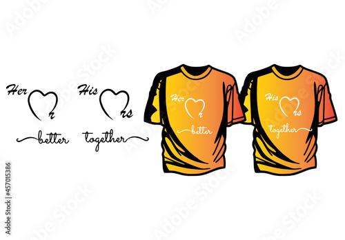 Obraz na plátně Mr and Mrs better together couple t-shirt