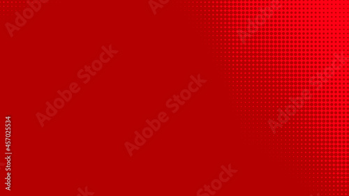 Canvas-taulu Dots halftone red color pattern gradient texture with technology digital background