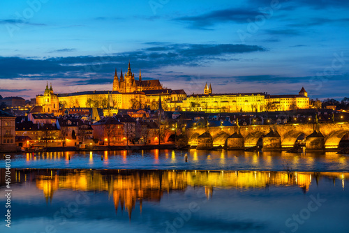 Fotografie, Obraz View of Prague Castle with the Palace of the President of the Czech Republic and