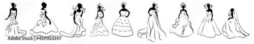 Foto brides vector set.