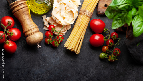 Fotografie, Obraz Italian cuisine food ingredients
