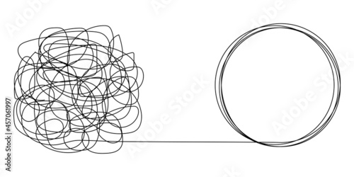 Stampa su Tela Tangled and unraveled tangles, problem solving process