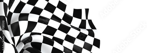 Canvas checkered flag, end race background