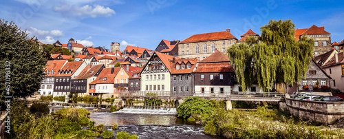 Foto Panorama of the old town of Kronach in Bavaria