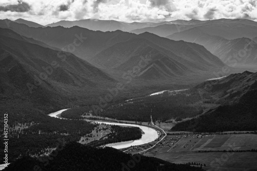Fotografia View from the observation deck at Tyungur in the Altai Republic