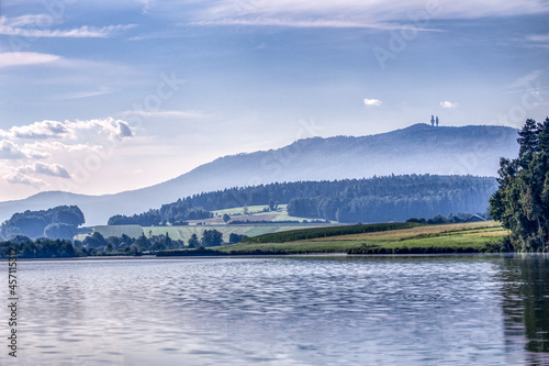 Canvastavla Lake Drachensee in Furth in Wald, bavarian forest