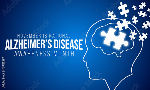 Valokuva Alzheimer's Disease awareness month is observed every year in November, it is a progressive disease, where dementia symptoms gradually worsen over a number of years