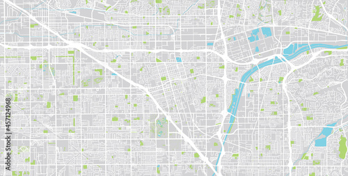 Fotografering Urban vector city map of Anaheim, California , United States of America