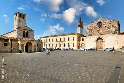 Obraz na plátně Foligno Umbria Italy. The church of Santa Maria Infraportas