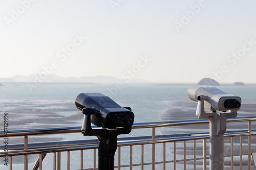 Tourist binoculars Fototapeta